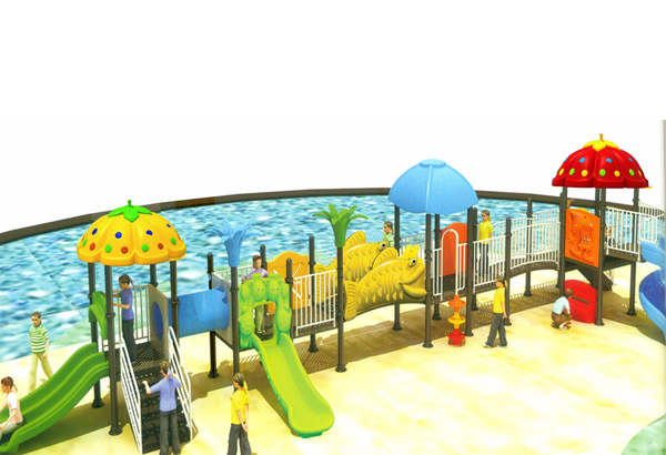 Bộ liên hoàn cầu trượt bể bơi A-LH138